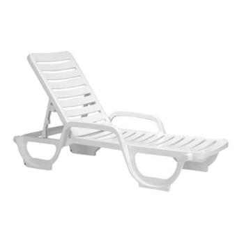 GFX44031004 - Grosfillex - 44031004 - White Bahia Deck Chaise - 6 Pack Product Image