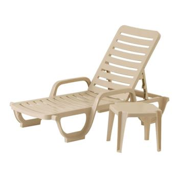 GFX44031166 - Grosfillex - 44031166 - Sandstone Bahia Deck Chaise - 18 Pack Product Image