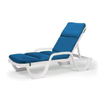 Grosfillex 98239231 royal blue contract chaise cushion - Grosfillex chaise lounge chairs ...