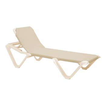 GFX99155166 - Grosfillex - 99155166 - Nautical Natural/Sandstone Chaise Lounge Product Image