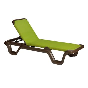 GFX99415237 - Grosfillex - 99415237 - Marina Fern Sling Chaise Lounge Product Image
