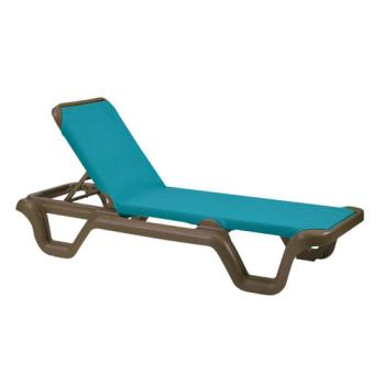 GFX99424137 - Grosfillex - 99424137 - Marina Turquoise Sling Chaise Lounge Product Image