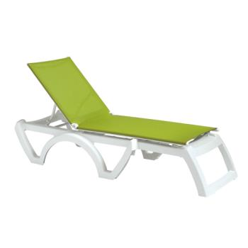GFXUS376152 - Grosfillex - US476152 - Fern Green/White Calypso Sling Chaise- 12 Pack Product Image
