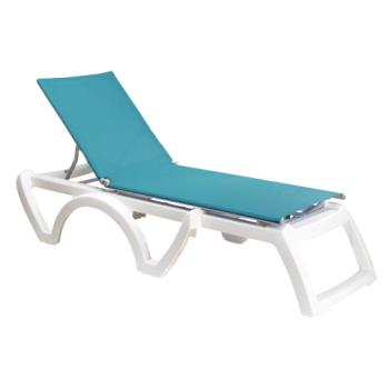 GFXUS376241 - Grosfillex - US476241 - Turquoise/White Calypso Sling Chaise- 12 Pack Product Image