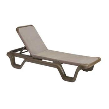 GFXUS515137 - Grosfillex - US515137 - Espresso/Bronze Mist Marina Sling Chaise Lounge - 2 Pack Product Image