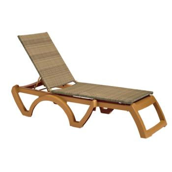 GFXUS645108 - Grosfillex - US645208 - Java Honey/Teakwood Chaise Lounge Product Image