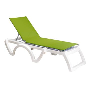GFXUS736152 - Grosfillex - US746152 - Forest Green/White Calypso Sling Chaise- 2 Pack Product Image