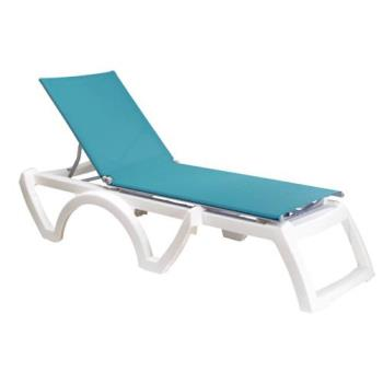 GFXUS736241 - Grosfillex - US746241 - Turquoise/White Calypso Sling Chaise - 2 Pack Product Image