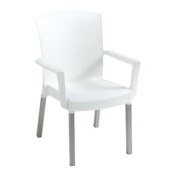 GFX45309004 - Grosfillex - 45903004 - White Havana Classic Armchair - 12 Pack Product Image