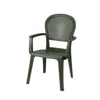 GFX46105002 - Grosfillex - 46105002 - Charcoal Seville Highback Armchair - 16 Pack Product Image