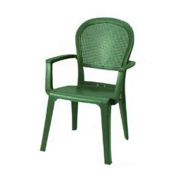 GFX46105085 - Grosfillex - 46105085 - Metal Green Seville Highback Armchair - 16 Pack Product Image