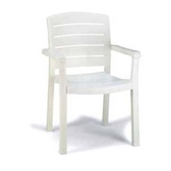 GFX46119004 - Grosfillex - 46119004 - White Acadia Classic Dining Armchair - 12 Pack Product Image
