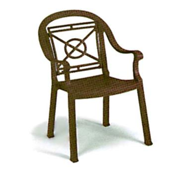 GFX46214037 - Grosfillex - 46214037 - Bronze Mist Victoria Classic Dining Armchair - 12 Pack Product Image