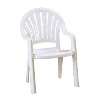GFX49092004 - Grosfillex - 49092004 - White Pacific Fanback Armchair - 16 pack Product Image