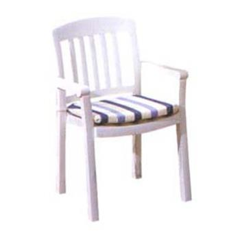 GFX49442004 - Grosfillex - 49442004 - White Atlantic Classic Dining Armchair - 12 Pack Product Image