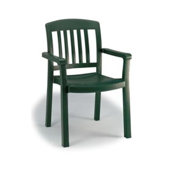 GFX49442078 - Grosfillex - 49442078 - Amazon Green Atlantic Classic Dining Armchair - 12 Pack Product Image