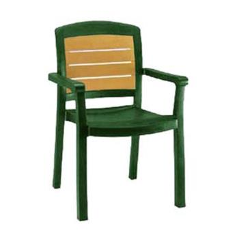 GFX49453078 - Grosfillex - 49453078 - Amazon Green Aquaba Classic Dining Armchair - 12 pack Product Image