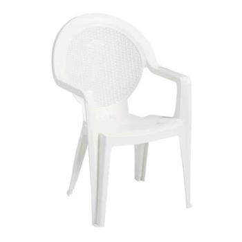 GFX99421004 - Grosfillex - 99421004 - White Trinidad Armchair - 4 Pack Product Image