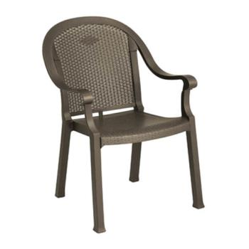 GFX99720037 - Grosfillex - 99720037 - Bronze Mist Sumatra Classic Armchair - 4 Pack Product Image
