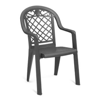 GFXUS103102 - Grosfillex - US103102 - Charcoal Savannah Highback Armchair - 20 Pack Product Image