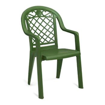 GFXUS103185 - Grosfillex - US103185 - Metal Green Savannah Highback Armchair - 20 Pack Product Image
