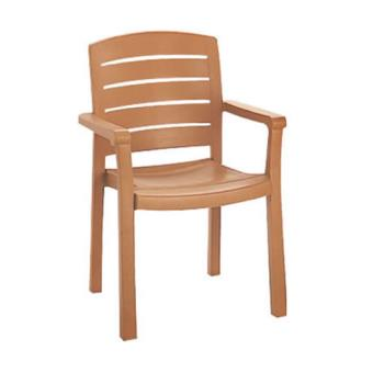 GFXUS119008 - Grosfillex - US119008 - Teakwood Acadia Classic Dining Armchair - 4 Pack Product Image