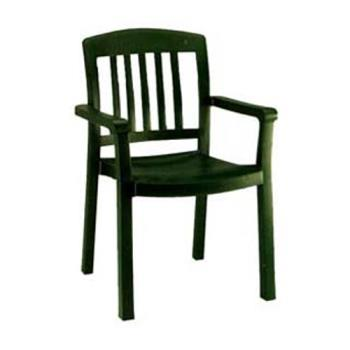 GFXUS442078 - Grosfillex - US442078 - Amazon Green Atlantic Classic Dining Armchair - 4 Pack Product Image