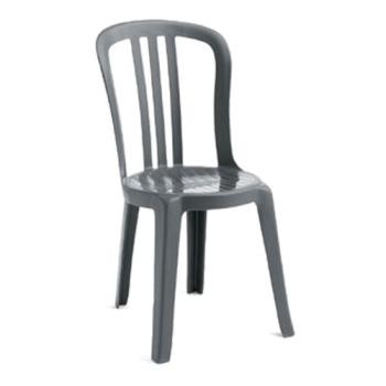 GFXUS495002 - Grosfillex - US495002 - Charcoal Miami Bistro Sidechair - 4 Pack Product Image