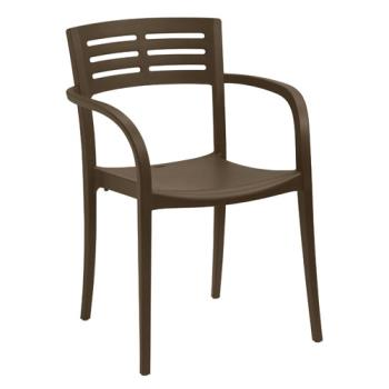 GFXUS633275 - Grosfillex - US633275 - Café Vogue Outdoor Stacking Armchair - 4 Pack Product Image