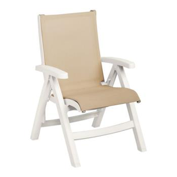 GFXCT352004 - Grosfillex - CT352004 - Khaki/White Belize Midback Sling Chair Product Image