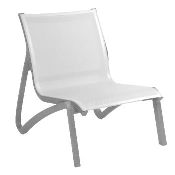 GFXUS001289 - Grosfillex - US001289 - Solid Gray / Platinum Gray Sunset Armless Lounge Chair Product Image