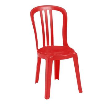 GFXUS495414 - Grosfillex - US495414 - Red Miami Bistro Side Chair Product Image