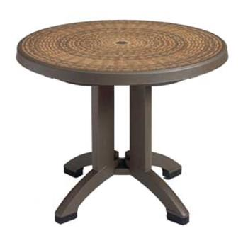 GFXUS215037 - Grosfillex - US215037 - 38 in Round Espresso Havana Table Product Image