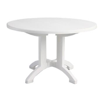 GFXUS243104 - Grosfillex - US243104 - White 48 in Aquaba Round Table Product Image