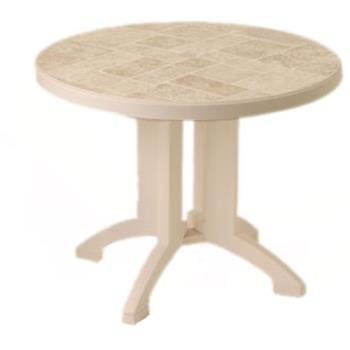 "GFXUS700066 - Grosfillex - US700066 - Sandstone 38"" Siena Round Table Product Image"