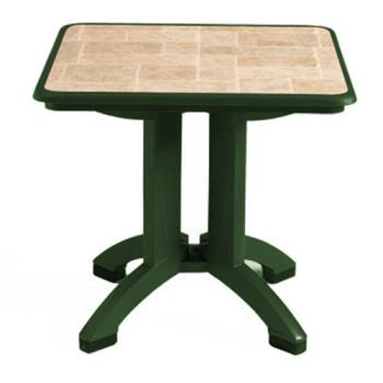 GFXUS701078 - Grosfillex - US701078 - Amazon Green 32 in Siena Square Table - 2 Pack Product Image