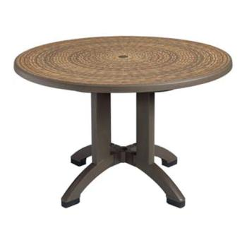 GFXUS715037 - Grosfillex - US715037 - 48 in Round Espresso Havana Table Product Image