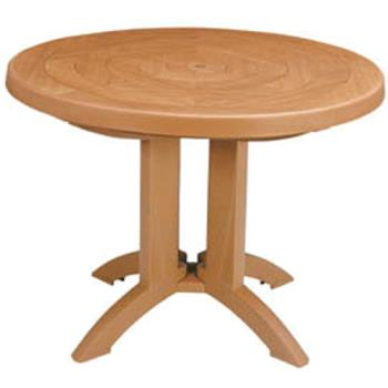GFXUS920008 - Grosfillex - US920008 - Teakwood 38 in Atlantis Round Table Product Image