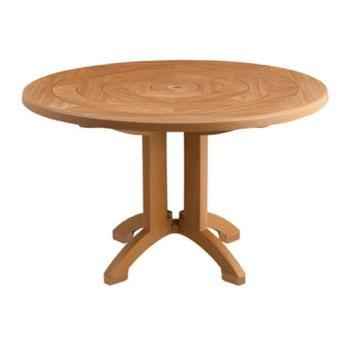 GFXUS921208 - Grosfillex - US921208 - Teakwood 48 in Atlantis Round Table Product Image