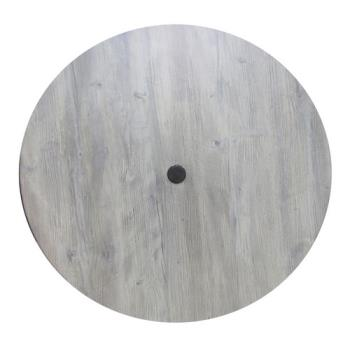 GFX99881471 - Grosfillex - 99881471 - 42 in Round White Oak Molded Melamine Table Top   Product Image