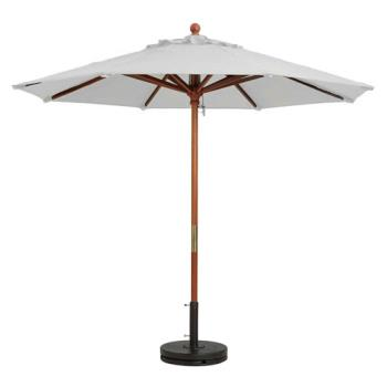 GFX98910431 - Grosfillex - 98910431 - White 9' Market Umbrella Product Image