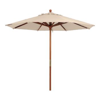 GFX98914831 - Grosfillex - 98914831 - 9 ft Sand Market Umbrella w/ 1 1/2 in Pole Product Image