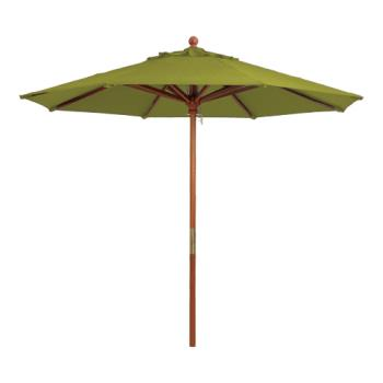 GFX98914931 - Grosfillex - 98914931 - 9 ft Pesto Market Umbrella w/ 1 1/2 in Pole Product Image
