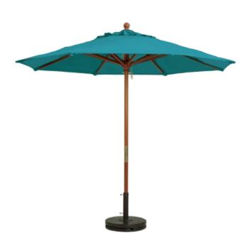 GFX98943131 - Grosfillex - 98943131 - 7 ft Turquoise Market Umbrella Product Image
