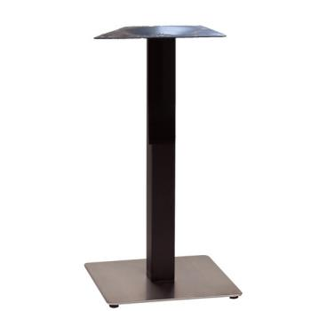 GFXUS121809 - Grosfillex - US121809 - 18 in Square Black / Stainless Bar Height Table Base Product Image