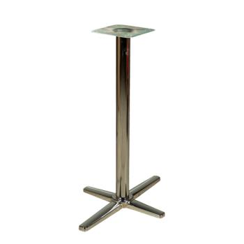 "OAKB2230CHRSTD - Oak Street - B2230CHR-STD - 22"" x 30"" Chrome Cross Base Standard Height Table Base Product Image"