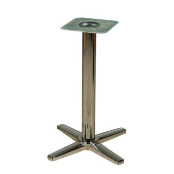 "OAKB22CHRBAR - Oak Street - B22CHR-BAR - 22"" x 22"" Chrome Cross Base Bar Height Table Base Product Image"