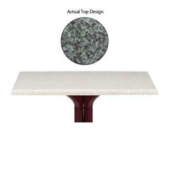 "GFX99530025 - Grosfillex - 99530025 - Granite Green 24"" x 32"" Table Top Product Image"