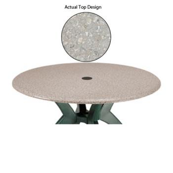 "GFX99811002 - Grosfillex - 99811002 - Tokyo Stone 36"" Round Table Top w/ Umbrella Hole Product Image"