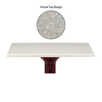 "GFX99841002 - Grosfillex - 99841002 - Tokyo Stone 32"" Square Table Top w/ Umbrella Hole Product Image"